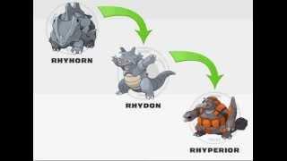 evoluções de pokemons