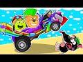 Lion Family 🚚 Super Truck Race   Cartoon for Kids