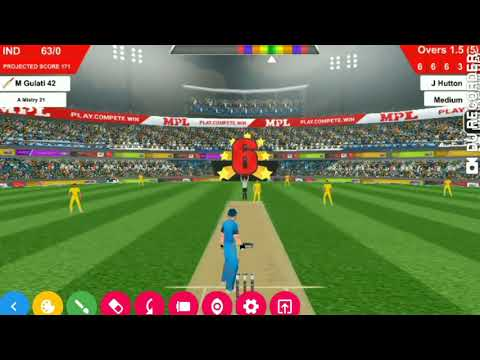Mpl pro cricket trick|Hit each bowler for six|666666