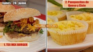 1.tex Mex Burger  2.panquecitos De Queso Y Elote