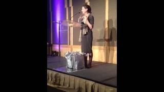 Butch Blum Kay Smith-Blum Accepting Nellie Cashman Award Thumbnail
