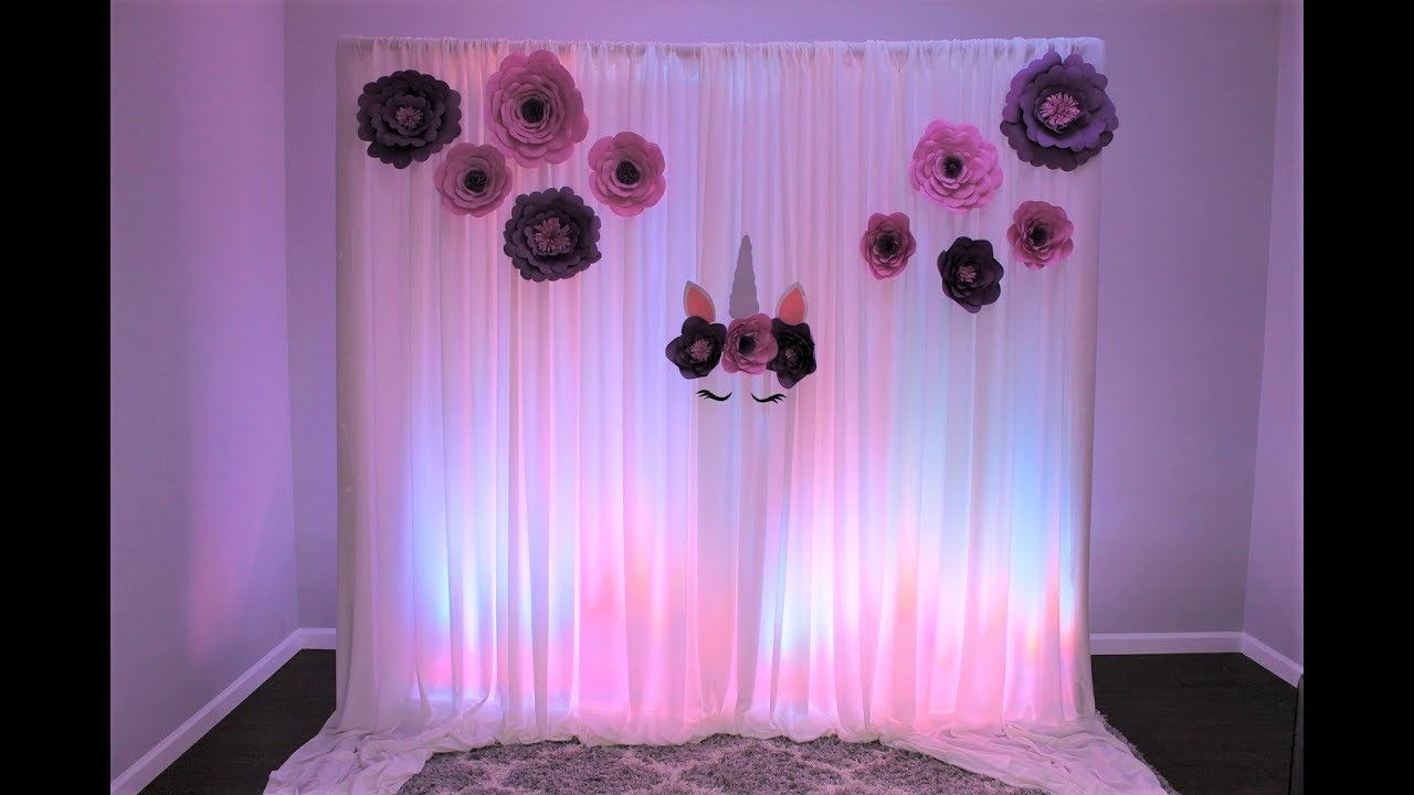 Unicorn Backdrop Diy Youtube