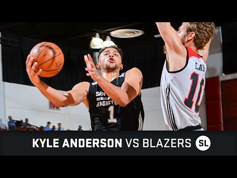 Kyle Anderson Highlights: 23 PTS vs Blazers Summer League (10.07.2016)