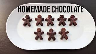 HOME MADE CHOCOLATE RECIPE WITH ONLY 4 INGREDIENTS I HOW TO MAKE CHOCOLATE