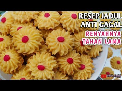 Resep Kue Semprit Mawar Super Renyah Aneka Kue Kering Lebaran Youtube