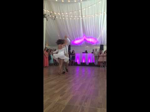 Pamela and Chris first dance Five for fighting100 years