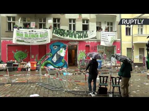 Eviction de squatters d'une propriété à Berlin (Direct du 29.06)