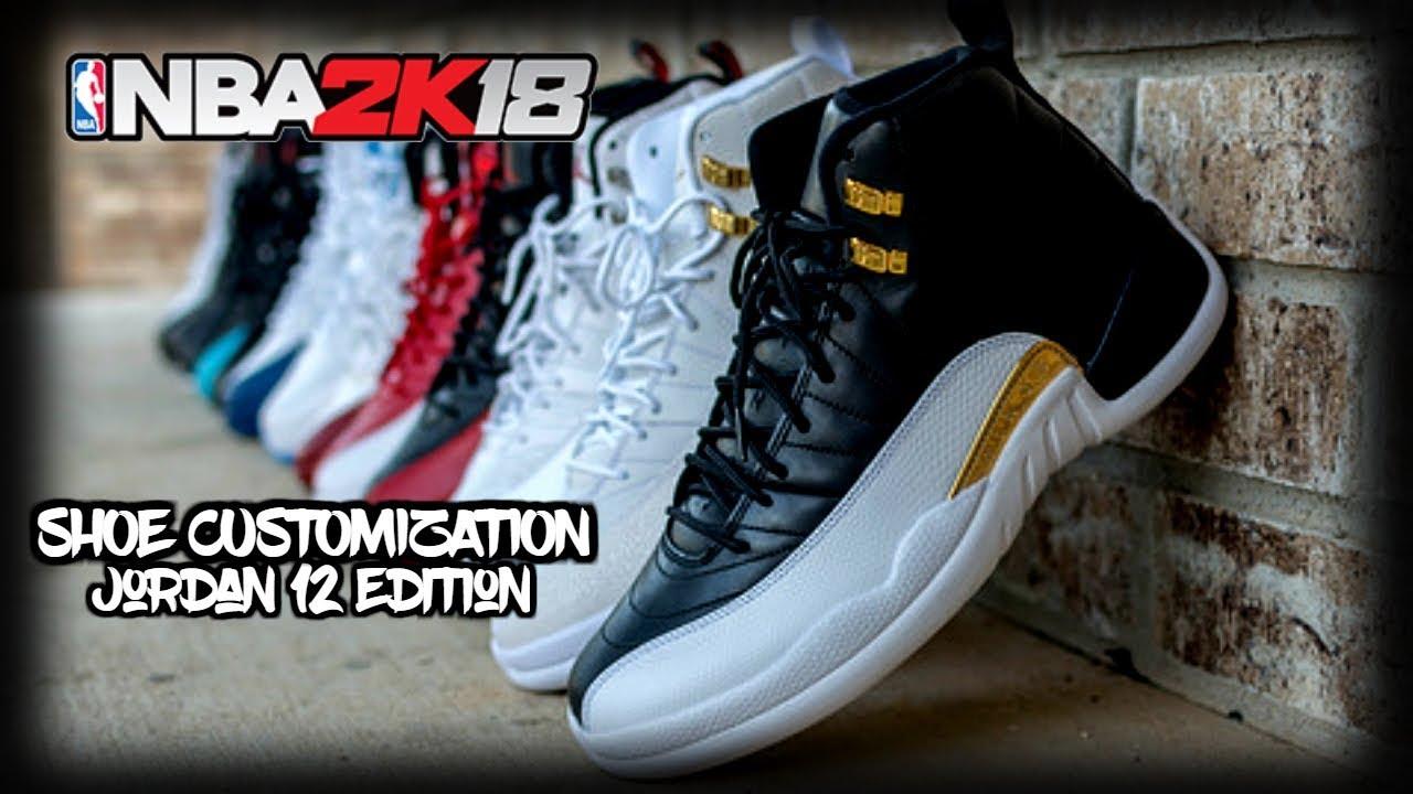 NBA 2K18 | COMPLETE SHOE CREATOR TUTORIAL | JORDAN 12 EDITION | FREE SHOES!!