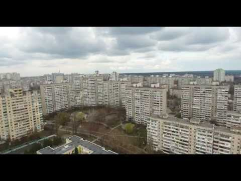 DJI Phantom 4 (4K) Video Ukraine Kiev Aerial video 2017 Distance of 1900 meters