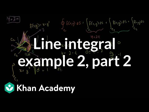 Line Integral Example 2 (part 2) | Multivariable Calculus | Khan Academy