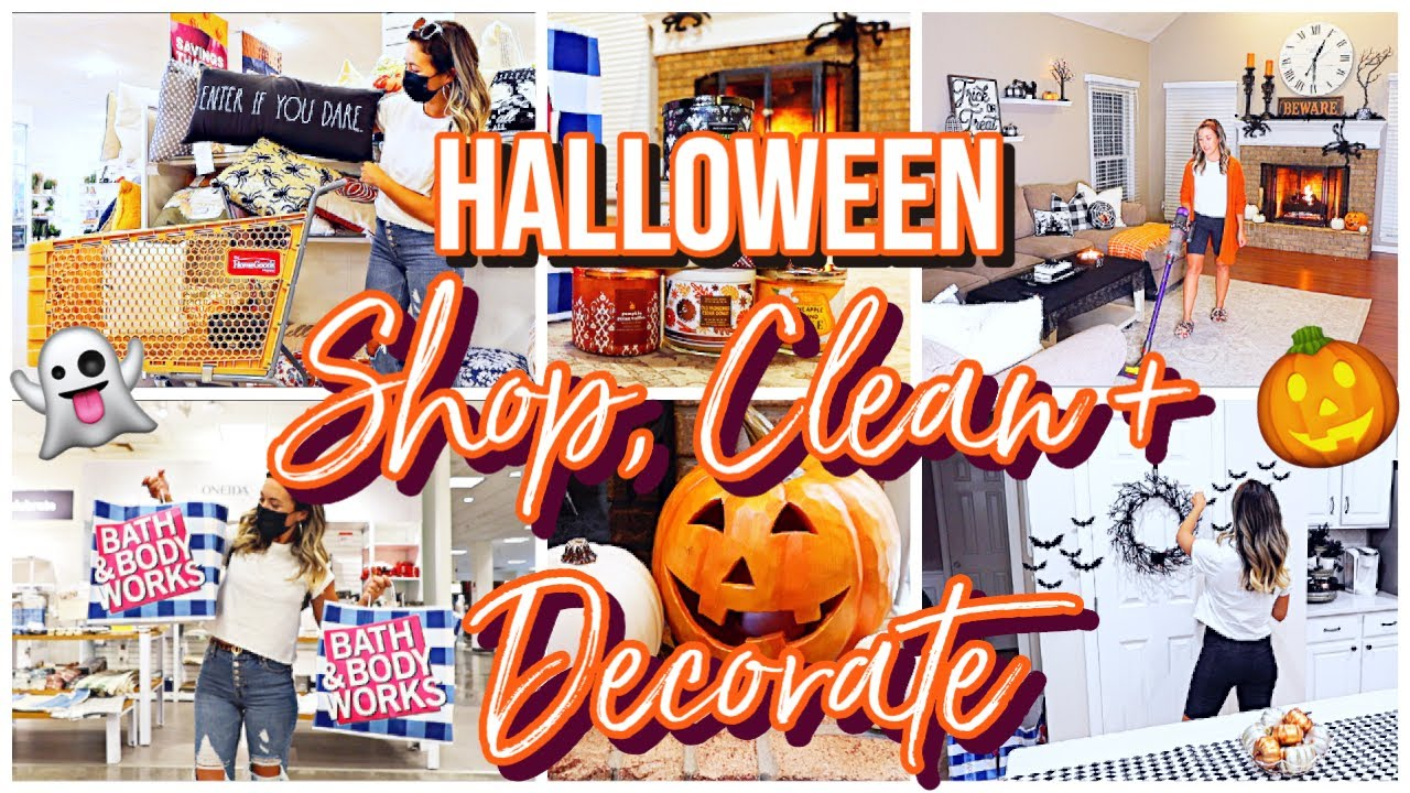 *NEW* CLEAN + DECORATE WITH ME! FALL 2021 HALLOWEEN SHOP WITH ME, CLEAN + DECORATE W/ ME @Brianna K