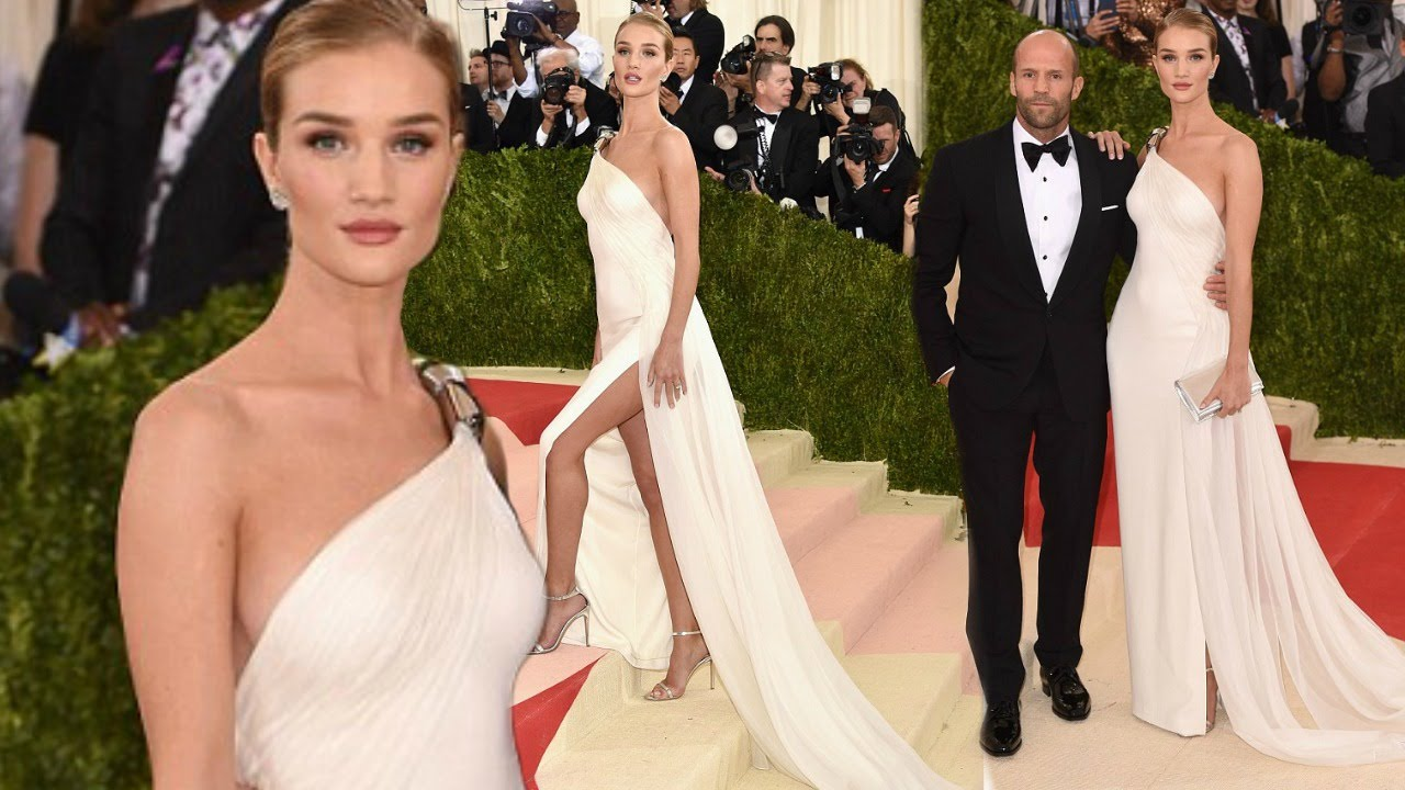 Rosie Huntington-Whiteley Cosies With Jason Statham At Met ...