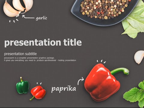 Ppt Wallpapers Animations Food Animated Powerpoint Template Youtube