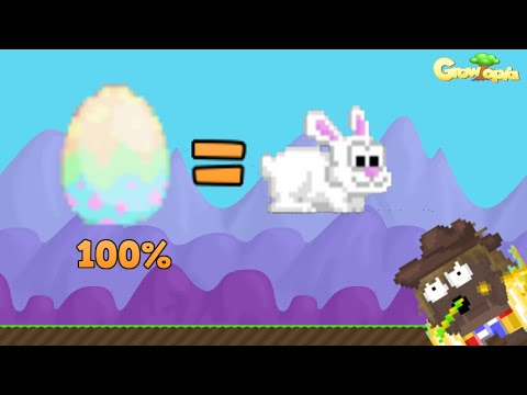 Growtopia l Making 100% bunny egg :O