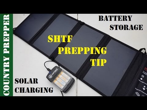 SHTF Prepping Tip- Battery Storage and Charging