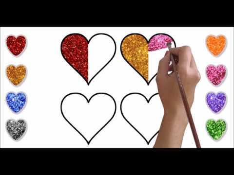 Simli Kalp Boyama Bright Heart Painting Youtube