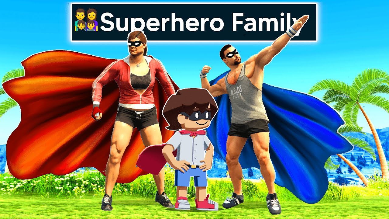 Upgrading Into SUPERHERO FAMILY In GTA 5! (Impossible!)