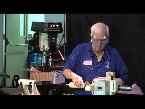 Woodturning: Alan Carter Turns a Thin Goblet on the Lathe