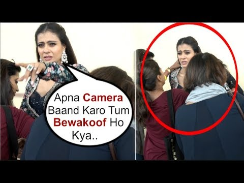 Kajol SHOUTS At A Photographer Taking Video While FIXING Her Dress