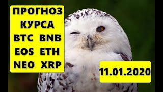 Прогноз курса криптовалют BTC, BNB, EOS, ETH, NEO, XRP 11.01.2020