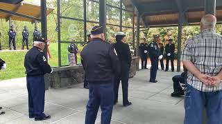 Donald Cox US Navy memorial service