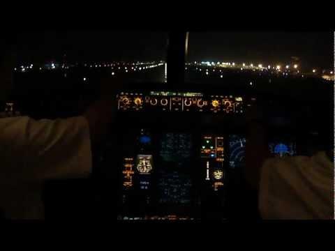 A330 Night Takeoff RWY 24 Manila International - Jumpseat Pilot View