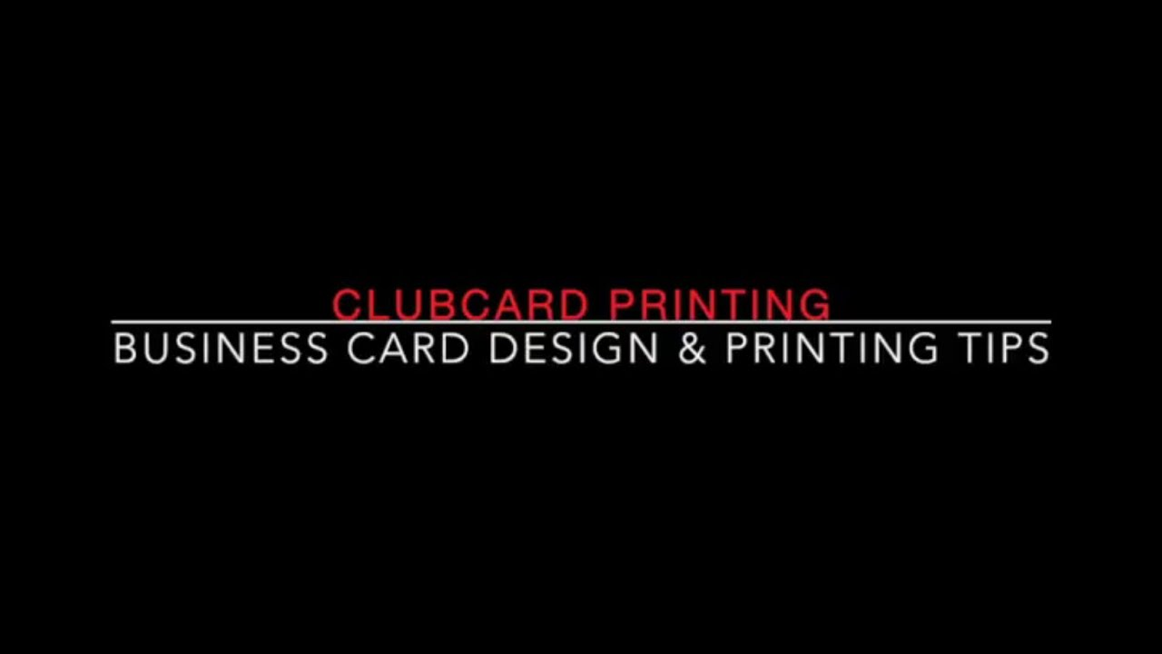 Business Card Design and Printing Tips – Club Card Design