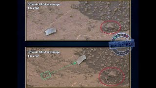 Metal object Moves on Mars, Curiosity Rover, Mars Anomalies, Dust Storm Time-Lapse Aug 2018