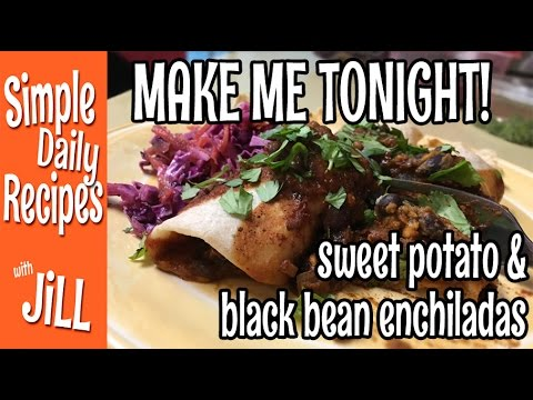 Wish I Made More Sweet Potato Black Bean Enchiladas - YouTube