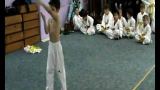 Оkikukai Shohei ryu / Uechi ryu style,Moscow,Russia. Kata Sanchin.Paul Bashilov, 6 years, 8 kyu.