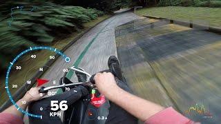 60 Km/h Luge ride speed record Rotorua