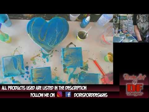 Testing KS Resin On A Heart | Resin Pouring | Resin Art
