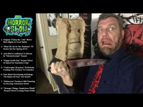 The Horror Show NEWS with BOOZE  - September 30th, 2018 - LIVE!!!