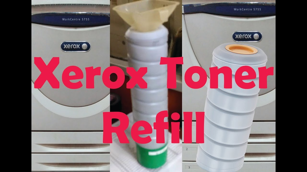 How to Toner Refill Xerox 5755