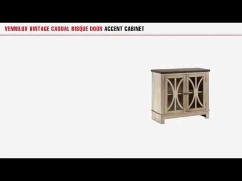 Vennilux Vintage Casual Bisque Door Accent Cabinet By Ashley Furniture