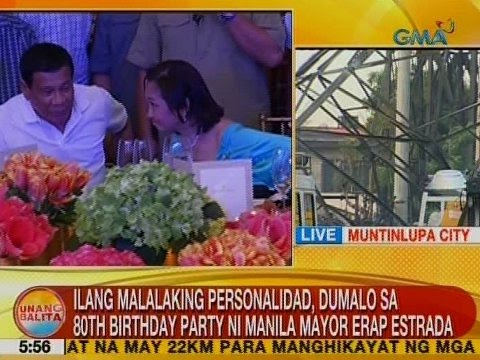 UB: Ilang malalaking personalidad, dumalo sa 80th birthday party ni Manila Mayor Erap Estrada