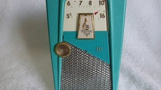 "1958 Emerson 888 ""Explorer"" transistor radio (Made in the USA)"