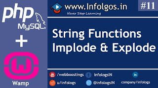 PHP - String Function in PHP (implode, explode) - Tutorial 11