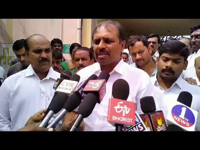 Hospital Inspection by AP Chief Whip Gadikota Srikanth Reddy at Rayichoti