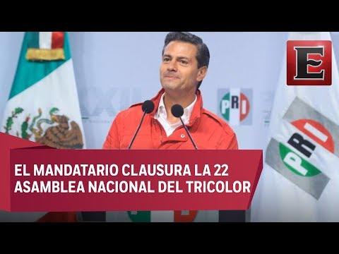 Peña Nieto llama a cerrar filas en el PRI rumbo al 2018