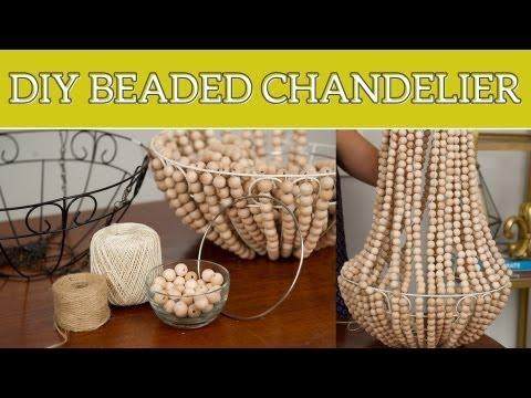 DIY Home Decor: Beaded Chandelier