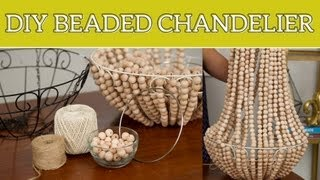 DIY Home Decor: Beaded Chandelier