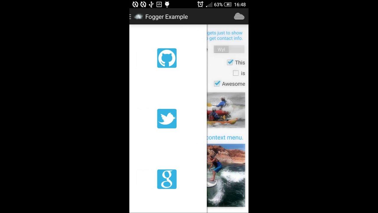 Blur background under Android common UI elements · allegro tech