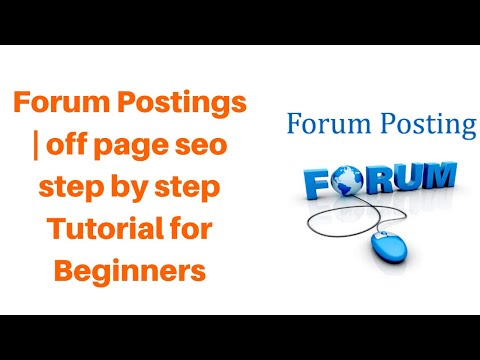 Forum Postings | off page seo step by step Tutorial for Beginners  - Rakesh Tech Solutions