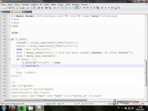 php  jquery ile sohbet uygulaması