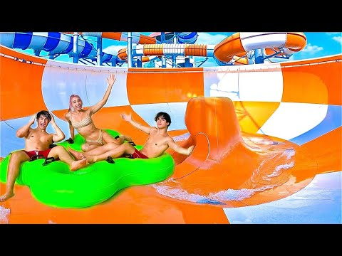 24 HOUR OVERNIGHT IN THE WORLD'S BIGGEST WATERPARK!!  