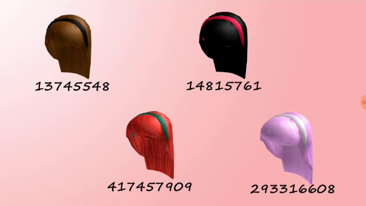 Roblox Highschool Hair Codes Part 2 Youtube