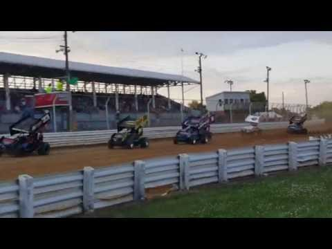 Selinsgrove Speedway 360 Sprint Car Highlights 7-09-16