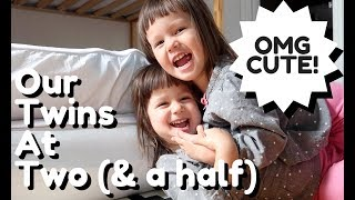 Our CUTE SILLY Twins at 2.5 - Practicing Animals in Japanese & English