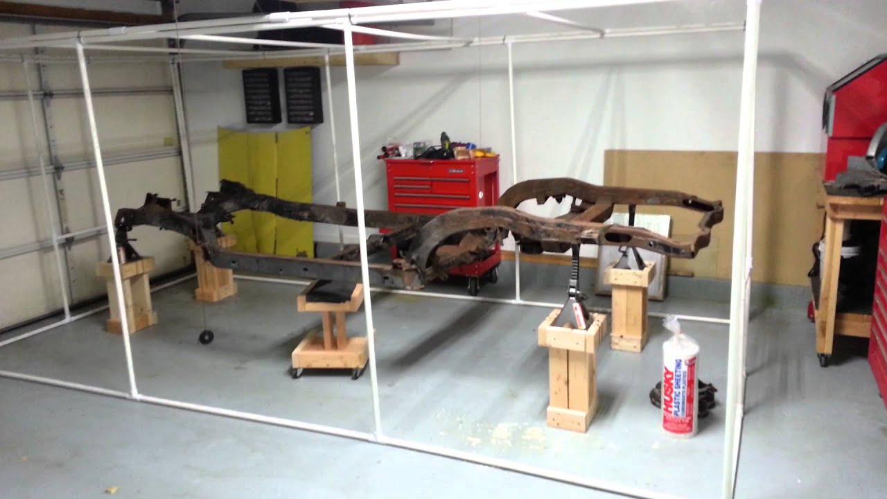 1966 Corvette-DIY blast/paint booth Part 2/3 - YouTube